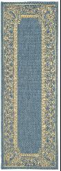 Safavieh Abaco Blue/ Natural Indoor/ Outdoor Runner (2'4 x 6'7) - Thumbnail 1