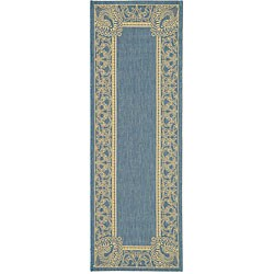 Safavieh Indoor/ Outdoor Abaco Blue/ Natural Runner (2'4 x 6'7)