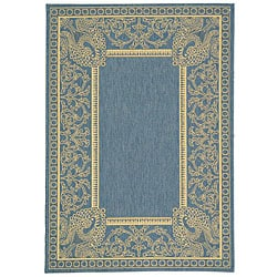 Safavieh Indoor/ Outdoor Abaco Blue/ Natural Rug (2'7 x 5')