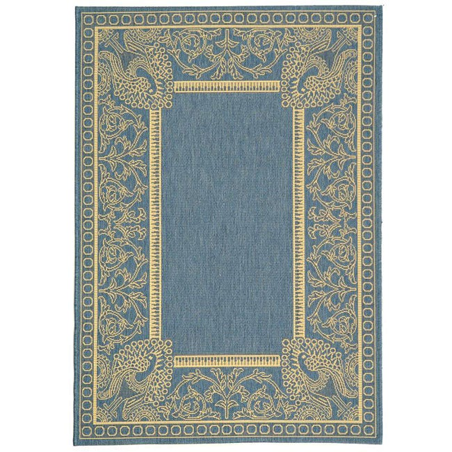 Safavieh Indoor/ Outdoor Abaco Blue/ Natural Rug (4' x 5'7)