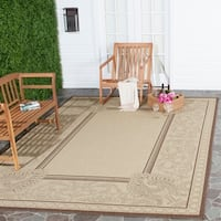 Safavieh Abaco Natural/ Chocolate Indoor/ Outdoor Rug - 5'3 x 7'7