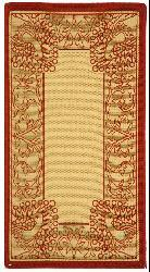 Safavieh Abaco Natural/ Red Indoor/ Outdoor Rug (2' x 3'7) - Thumbnail 2