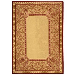 Safavieh Abaco Natural/ Red Indoor/ Outdoor Rug (2'7 x 5')