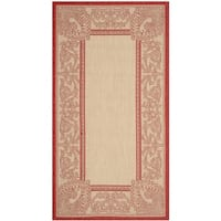 """Safavieh Abaco Natural/ Red Indoor/ Outdoor Rug - 2'-7"""" x 5'"""