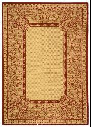 Safavieh Indoor/ Outdoor Abaco Natural/ Red Rug (4' x 5'7)