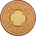 Safavieh Abaco Natural/ Red Indoor/ Outdoor Rug (6'7 Round)