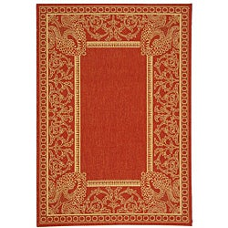 Safavieh Indoor/ Outdoor Abaco Red/ Natural Rug (2'7 x 5')