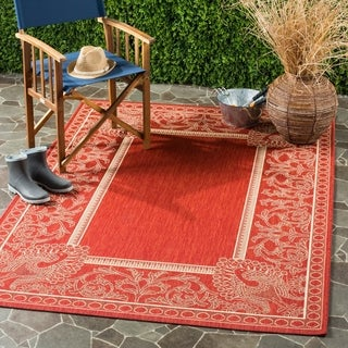 Safavieh Abaco Red/ Natural Indoor/ Outdoor Rug (8' x 11')