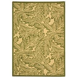 Safavieh Acklins Natural/ Olive Green Indoor/ Outdoor Rug (2'7 x 5')