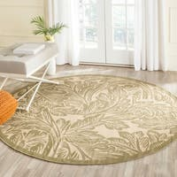 Safavieh Acklins Natural/ Olive Green Indoor/ Outdoor Rug (5'3 Round) - 5'3 round