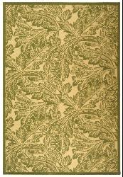 Safavieh Acklins Natural/ Olive Green Indoor/ Outdoor Rug (6'7 x 9'6) - Thumbnail 1