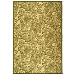Safavieh Acklins Natural/ Olive Green Indoor/ Outdoor Rug - 8' x 11' - Thumbnail 0