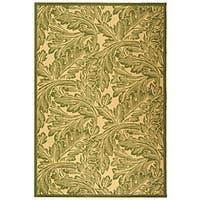 Safavieh Acklins Natural/ Olive Green Indoor/ Outdoor Rug - 7'10 x 11'