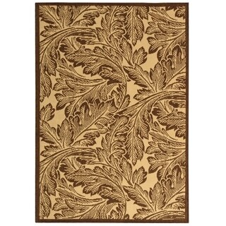 "Safavieh Acklins Natural/ Brown Indoor/ Outdoor Rug - 5'-3"" x 7'-7"""