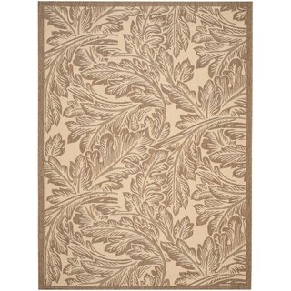 Safavieh Acklins Natural/ Brown Indoor/ Outdoor Rug - 8' X 11'