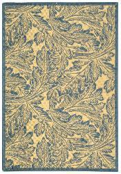 Safavieh Acklins Natural/ Blue Indoor/ Outdoor Rug (2'7 x 5') - Thumbnail 2