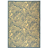 Safavieh Acklins Natural/ Blue Indoor/ Outdoor Rug - 7'10 x 11'