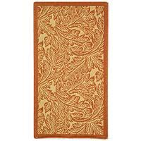 Safavieh Acklins Natural/ Terracotta Indoor/ Outdoor Rug - 2' x 3'7