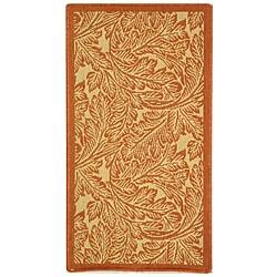 Safavieh Acklins Natural/ Terracotta Indoor/ Outdoor Rug (2' x 3'7)