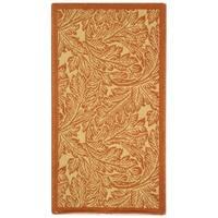 """Safavieh Acklins Natural/ Terracotta Indoor/ Outdoor Rug - 2' x 3'-7"""""""