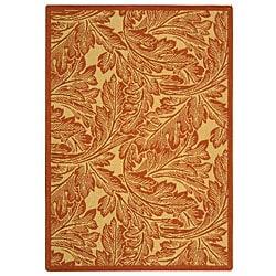 Safavieh Indoor/ Outdoor Acklins Natural/ Terracotta Rug (2'7 x 5')