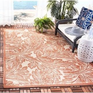 Safavieh Acklins Natural/ Terracotta Indoor/ Outdoor Rug (2'7 x 5')