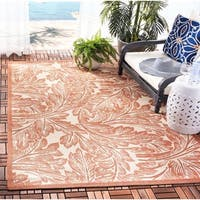 "Safavieh Acklins Natural/ Terracotta Indoor/ Outdoor Rug - 6'-7"" x 9'-6"""