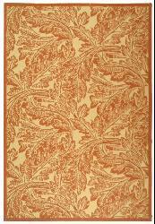 Safavieh Acklins Natural/ Terracotta Indoor/ Outdoor Rug (8' x 11') - Thumbnail 2