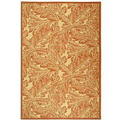 Safavieh Acklins Natural/ Terracotta Indoor/ Outdoor Rug - 8' x 11' - Thumbnail 0