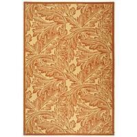 Safavieh Acklins Natural/ Terracotta Indoor/ Outdoor Rug - 8' x 11'