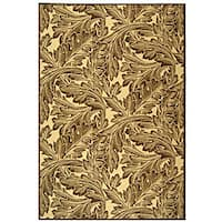 Safavieh Acklins Natural/ Chocolate Indoor/ Outdoor Rug - 8' x 11'