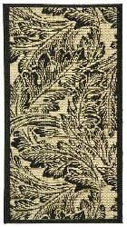 Safavieh Indoor/ Outdoor Acklins Sand/ Black Rug (2' x 3'7)