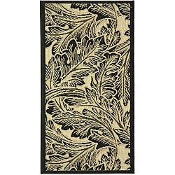 Safavieh Indoor/ Outdoor Acklins Sand/ Black Rug (2' x 3'7)