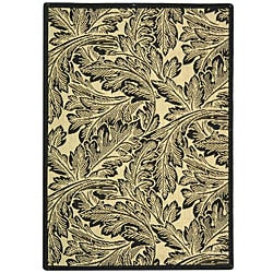 Safavieh Acklins Sand/ Black Indoor/ Outdoor Rug - 4' x 5'7 - Thumbnail 0