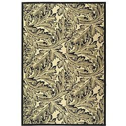 Safavieh Acklins Sand/ Black Indoor/ Outdoor Rug (5'3 x 7'7)