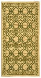 Safavieh Tropics Natural/ Olive Green Indoor/ Outdoor Rug (2'7 x 5') - Thumbnail 1