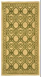 Safavieh Tropics Natural/ Olive Green Indoor/ Outdoor Rug (2'7 x 5') - Thumbnail 2