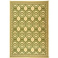 Safavieh Tropics Natural/ Olive Green Indoor/ Outdoor Rug (5'3 x 7'7) - 5'3 x 7'7