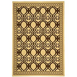 Safavieh Indoor/ Outdoor Tropics Natural/ Brown Rug (2'7 x 5')