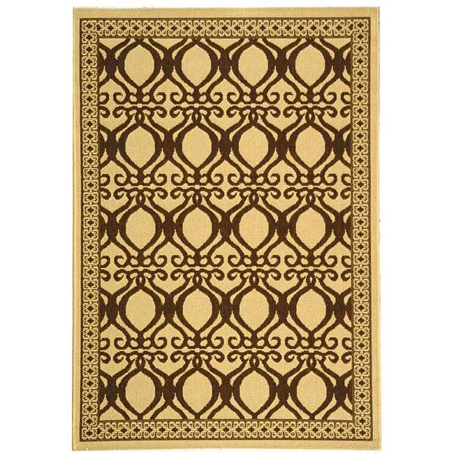 Safavieh Tropics Natural/ Brown Indoor/ Outdoor Rug (4' x 5'7)