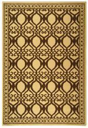 Safavieh Indoor/ Outdoor Tropics Natural/ Brown Rug (8' x 11')