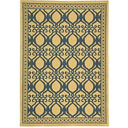 Safavieh Tropics Natural/ Blue Indoor/ Outdoor Rug (2'7 x 5')|https://ak1.ostkcdn.com/images/products/3899171/Indoor-Outdoor-Tropics-Natural-Blue-Rug-27-x-5-P11942969.jpg?_ostk_perf_=percv&impolicy=medium