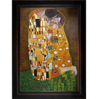 Gustav Klimt 'The Kiss' Oversized Canvas Art