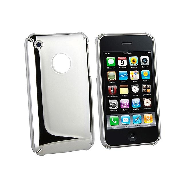 Silver Snap-on Case for Apple iPhone 3G/ 3GS