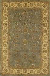 Hand-tufted Heirloom Spa Blue New Zealand Wool Rug (6' x 9')