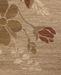 Hand-woven Haneul Beige Hemp Rug (5' x 8')