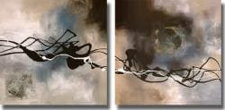 Laurie Maitland 'Watery Hollow I & II' 2-piece Unframed Canvas Art Set - Thumbnail 1