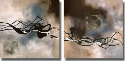 Laurie Maitland 'Watery Hollow I & II' 2-piece Unframed Canvas Art Set - Thumbnail 2