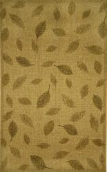 Floating Leaves Oatmeal Outdoor Rug (4'11 x 7'6)