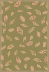 Floating Leaves Green Outdoor Rug (1'11 x 7'6)